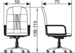 Radna fotelja RF203 dimenzije