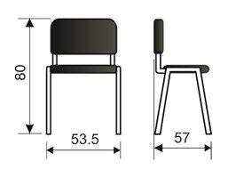 Konferencijska stolica KS2NET dimenzije