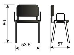 Konferencijska stolica KS2R dimenzije