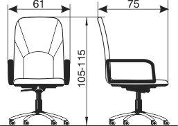 Radna fotelja RF200 dimenzije