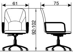 Radna fotelja RF220 dimenzije