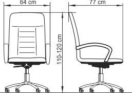 Radna fotelja RF600 dimenzije