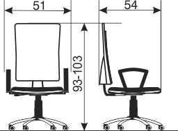 Radna stolica RS20 dimenzije