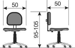 Radna stolica RS40 dimenzije