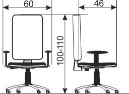 Radna stolica RS54 dimenzije