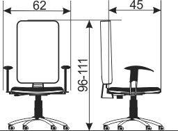 Radna stolica RS57 dimenzije