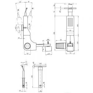 Mehanizam za naslon radne kancelarijske stolice