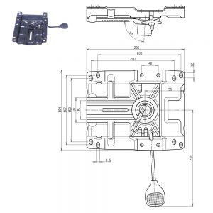 Mehanizam za radnu stolicu dimenzije