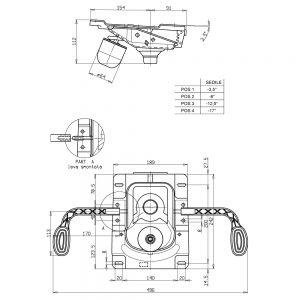 Tilt mehanizam sa kočnicom dimenzije
