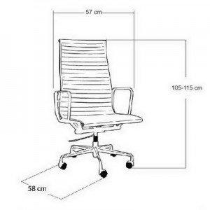 Radna stolica RSFB1 dimenzije