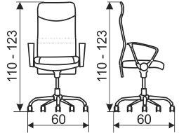 Radna stolica rso101 dimenzije