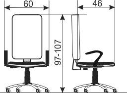 kancelarijska radna stolica rs56 dimenzije
