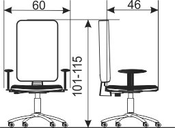 Radna stolica rs93 dimenzije
