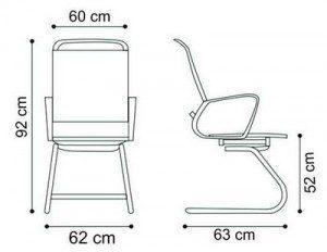 Konferencijska stolica KSf3 dimenzije