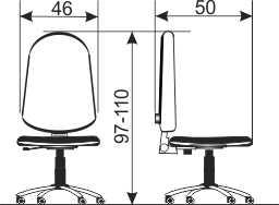 Radna stolica RS15 dimenzije