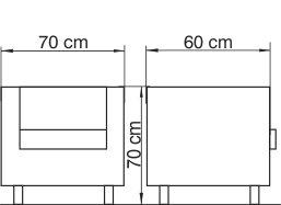 klub fotelja KF2301 dimenzije