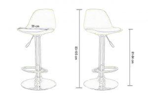 Barska stolica BS 1 dimenzije