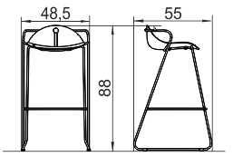 Barska stolica BS11 dimenzije