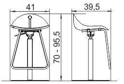 Barska stolica BS12 dimenzije