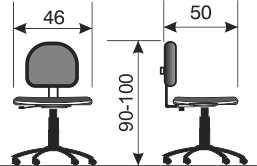Dečija stolica DS10M dimenzije