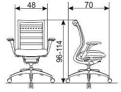 ergonomska radna stolica Sitness Workout dimenzije