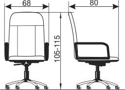 Radna fotelja RF300 dimenzije