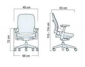 Radna stolica RSFB dimenzije
