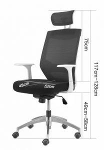 Radna stolica RSFB4 dimenzije