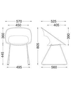 Moderna stolica MS6 dimenzije