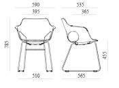 Trpezarijska stolica TS60S dimenzije