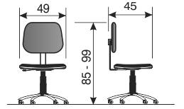 namenska industrijska stolica NS6 dimenzije