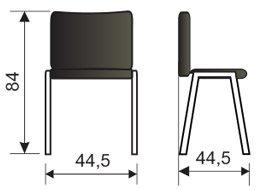 Moderna stolica MS12 dimenzije
