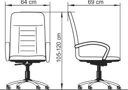 Radna fotelj RF400 dimenzije