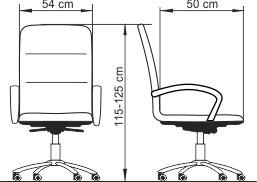 Radna fotelja RF350 dimenzije