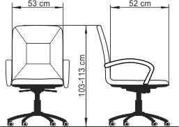 Radna fotelja RF550B dimenzije