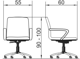 Radna fotelja RFO342 dimenzije