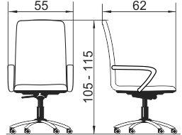 Radna fotelja RFO344 dimenzije
