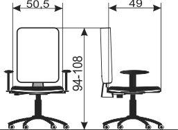 Radna stolica RS85 dimenzije