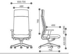 stolica RSO118 dimenzija