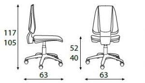 Dimenzije stolice RSM201