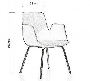 stolice KSFE10 dimenzija